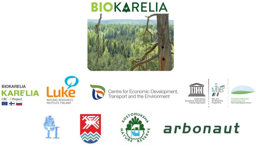 Biokarelia-hankkeen kaikki logot